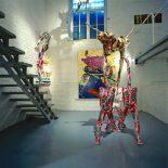 . Roberto Ollivero, Sculptures, portraits de famille en empreintes en polyester,
